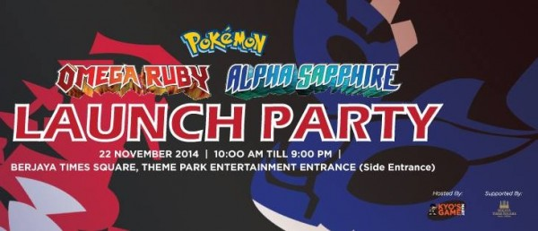 Pokemon Omega Ruby and Alpha Sapphire Launch by Kyo's Game Mart