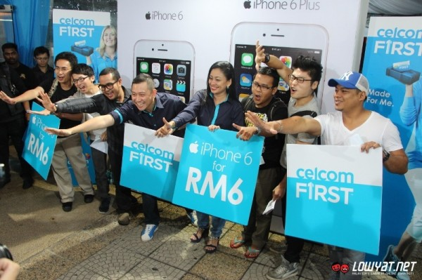 Celcom iPhone 6 and iPhone 6 Plus Midnight Launch 09