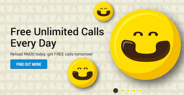DiGi Free Calls with RM20 Reload