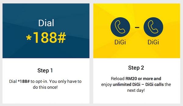 DiGi Prepaid Free Calls