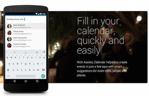 Google Calendar with Assist