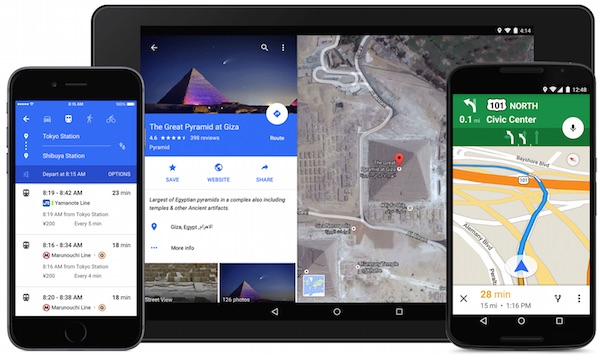 Google Maps with Material Design