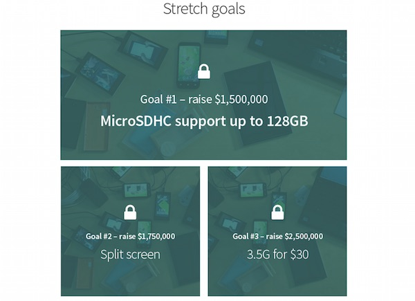 Jolla Tablet Stretch Goals