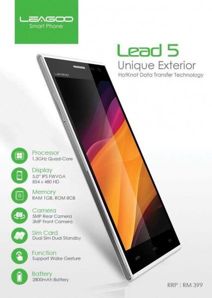 Leagoo Lead 5 Specs
