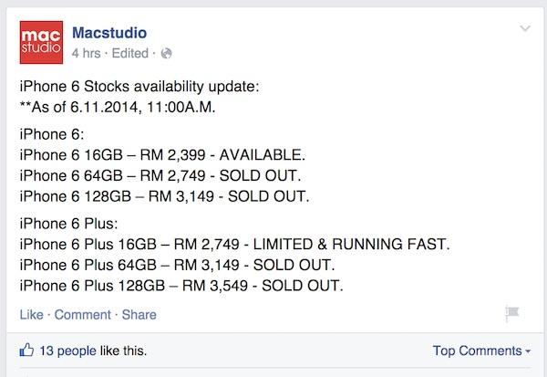 Macstudio iPhone 6 Availability