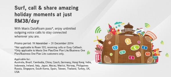 Maxis DataRoam Pass with Free Unlimited Calls