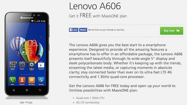 Maxis Lenovo A606