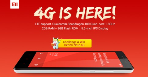 Redmi Note 4G is here
