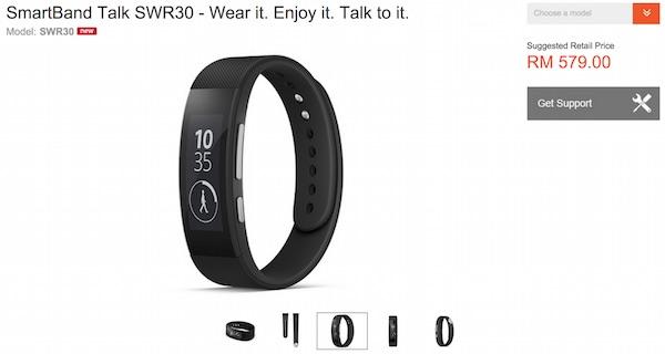 Sony SmartBand Talk Malaysia Price