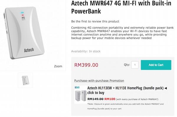 Storekini Aztech Mifi Powerbank