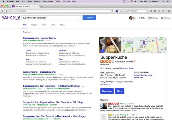 yahoo search 2