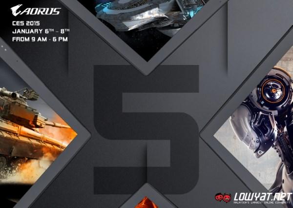 AORUS X5 teaser for CES 2015