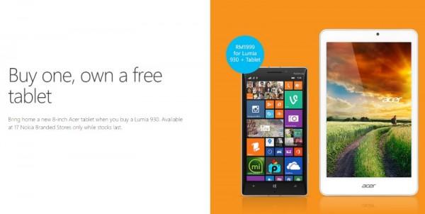 Lumia 930 - Acer Iconia W 8 Bundle