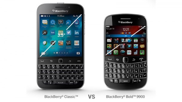 BlackBerry Classic vs BlackBerry Bold 9900