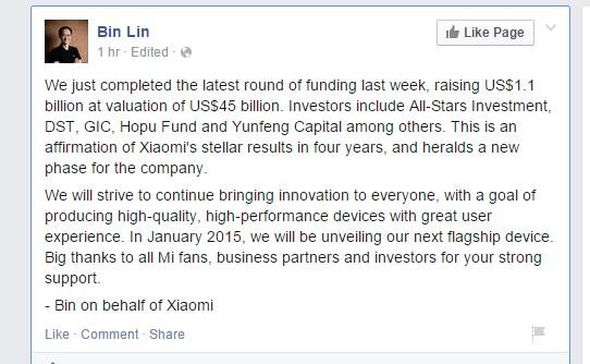 Bin Lin Xiaomi Statement