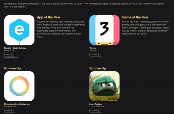 Apple Best Apps and Games of 2014