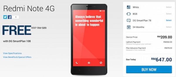 DiGi Xiaomi Redmi Note 4G