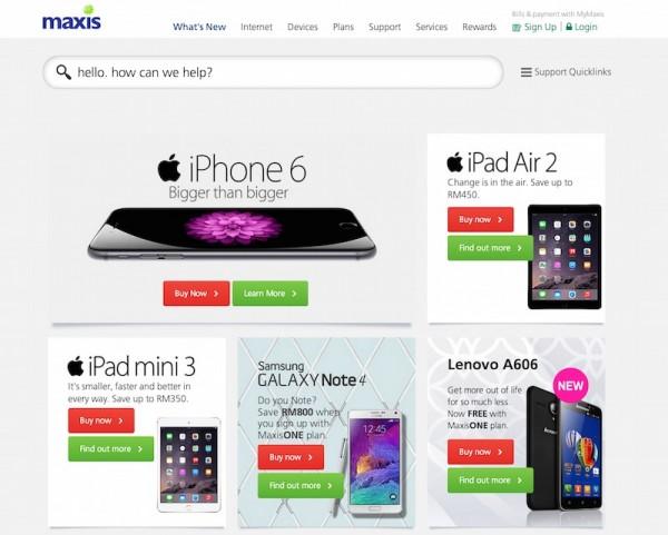 Maxis iPad Air 2 iPad mini 3
