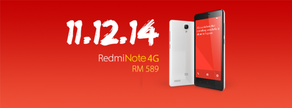 Redmi Note 4G 11 December 2014 Malaysia