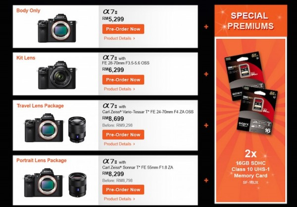 Sony A7 II Preorder Malaysia Package 1 to 4