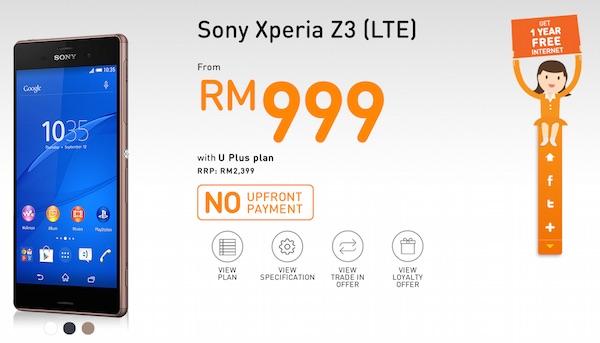 U Mobile Sony Xperia Z3