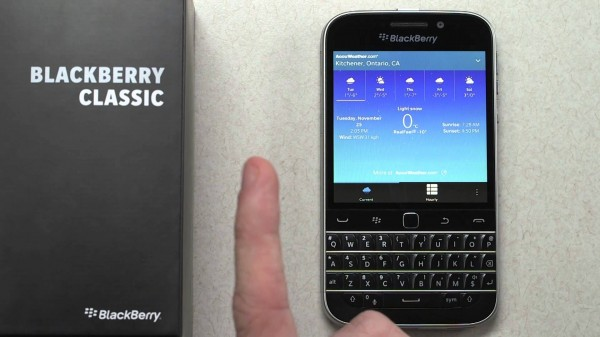 BlackBerry Finally Launches BlackBerry Classic: Another Throwback To Its QWERTY Legacy