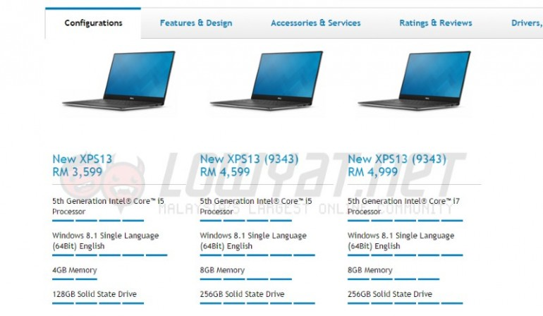 The 2015 Dell XPS 13 Is Now Available In Malaysia Price Starts From RM 3599