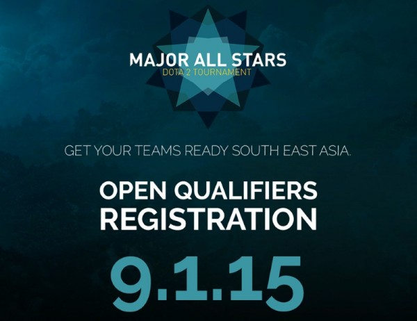 Major All Stars Dota 2 Tournament Open Online Qualifiers for South East Asia
