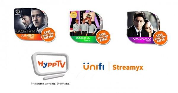 HyppTV Jumbo, Aneka, and Varnam Packs