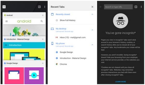 Chrome for iOS Material Design