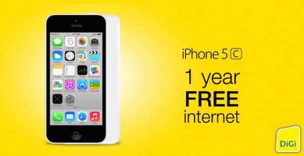 DiGi iPhone 5c no contract prepaid bundle