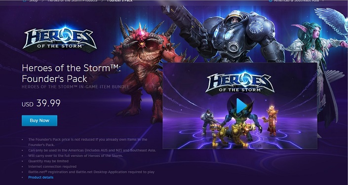 Heroes of the Storm founders pack