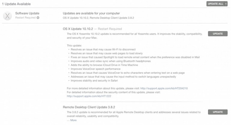 Apple Releases Mac OS X Yosemite 10 10 2 and iOS 8 1 3