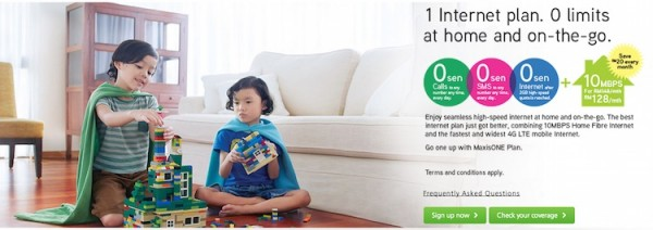 Maxis Fibre Home Promotion for MaxisONE Plan Subscribers