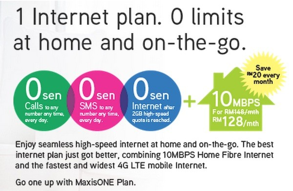 Maxis One Internet Fibre Home Promotion