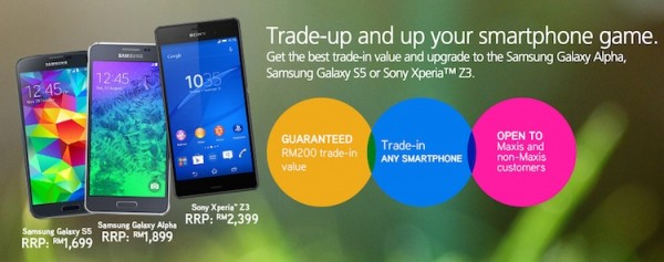 Maxis Trade In Promotion with Galaxy S5