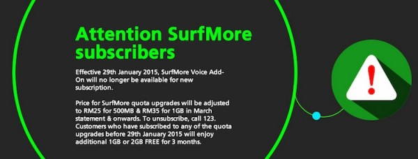 Maxis surfmore plan updates 29 january 2015