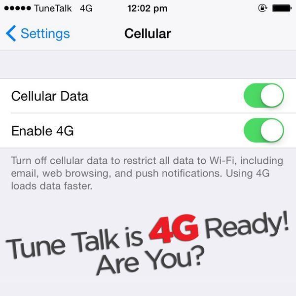TuneTalk Has LTE Weii