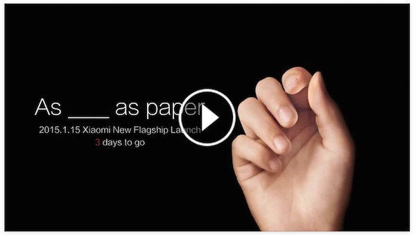 Xiaomi Flagship Launch Video Teaser