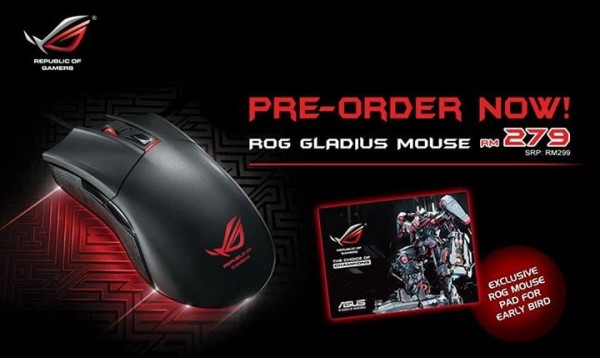 ASUS ROG Gladius Gaming Mouse Pre-Order by ASUS Malaysia