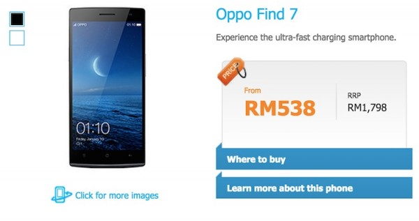Celcom Oppo Find 7