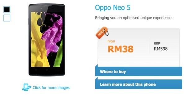 Celcom Oppo Neo 5