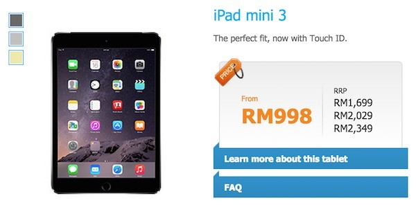 Celcom iPad mini 3