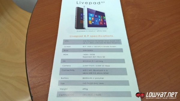IPRO Livepad 8.9 Windows 8.1 Tablet 03