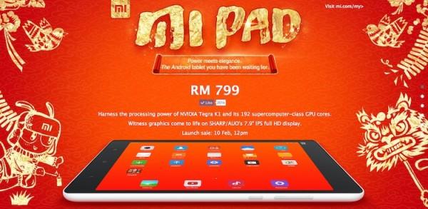 Mi Pad Malaysia RM799