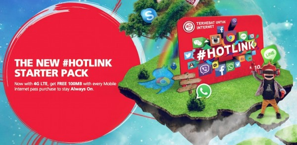 New Hotlink with Free 100MB Data