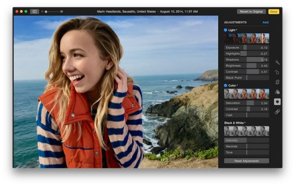 New Photos app for Mac Edit