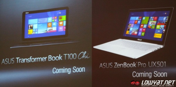 Coming Soon To Malaysia: ASUS Transformer Book T100 Chi and ZenBook Pro UX501