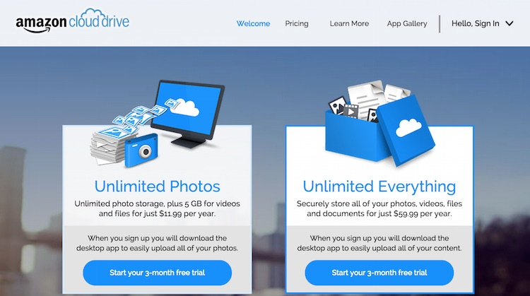 Amazon Cloud Drive New Price March 2015