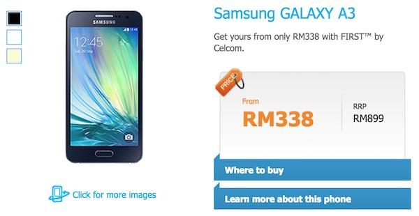 Celcom Samsung Galaxy A3